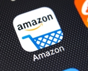 Sankt-petersburg, Russia, February 11, 2018: Amazon Shopping Application Icon On Apple Iphone X Scre