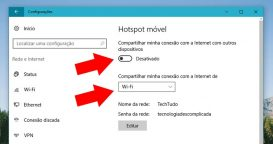 Compartilhamento do Wi-Fi Pelo Windows